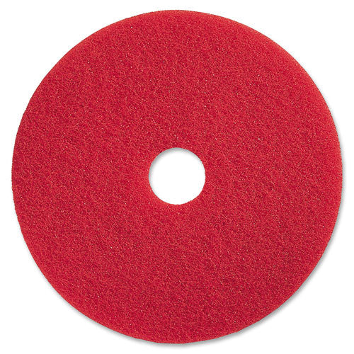 Genuine Joe Red Buffing Floor Pad ; (035255904186); Color:Red