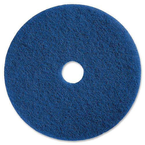 Genuine Joe Medium-duty Scrubbing Floor Pad ; (035255906173); Color:Blue