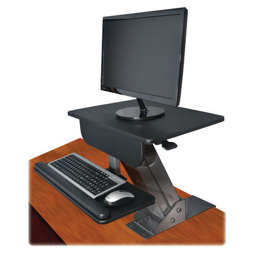 Kantek Desk-mounted Sit-to-Stand Workstation KTKSTS800, Black (UPC:750333658002)