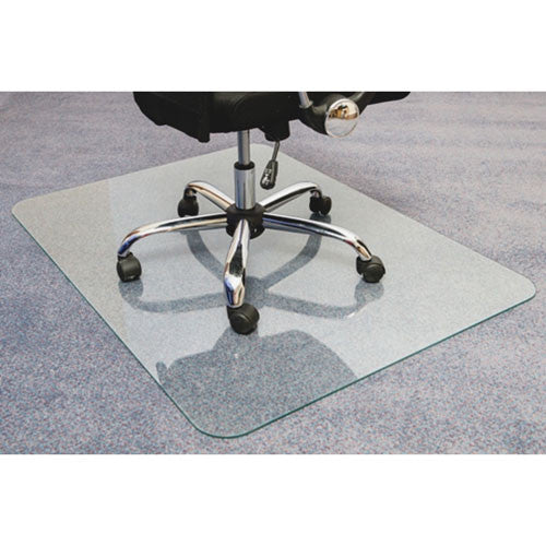 Floortex Glaciermat Glass Chair Mat FLR123648EG, Clear (UPC:874951003874)