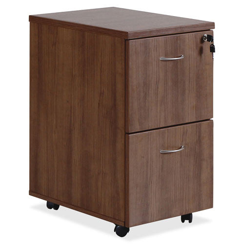 Lorell Essentials Walnut F/F Mobile Pedestal LLR69984, Walnut (UPC:035255699846)