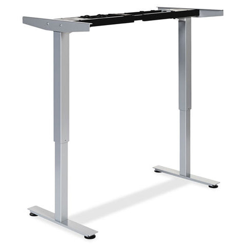 Lorell Electric Height Adj. Sit-Stand Desk Frame LLR25989, Silver (UPC:035255259897)