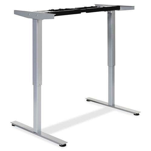 Lorell Electric Height Adj. Sit-Stand Desk Frame LLR25995, Silver (UPC:035255259958)