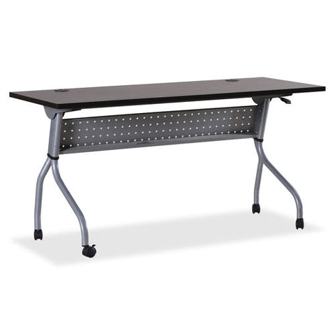 Lorell Espresso/Silver Training Table LLR60731, Silver (UPC:035255607315)