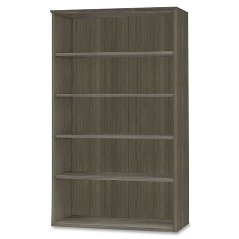 Mayline Medina Series Gray Laminate. 5-Shelf Bookcase MLNMVB5LGS, Gray (UPC:760771390723)