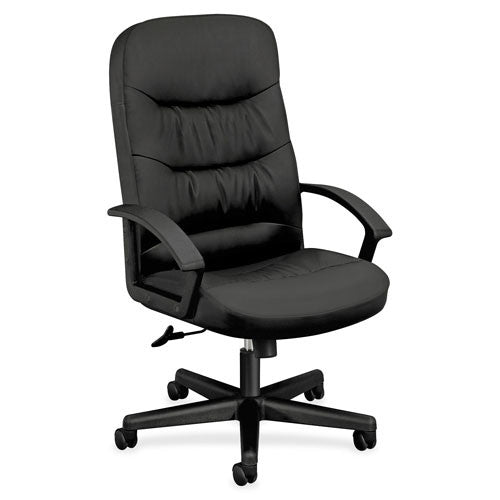 HON Executive High-back Leather Chair BSXVL641SB11, Black (UPC:089191139997)