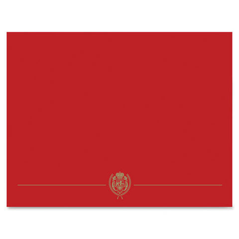 Consolidated Stamp Cosco Red Classic Crest Gold Certificate Holder ; (601952571008); Color:Red,Gold