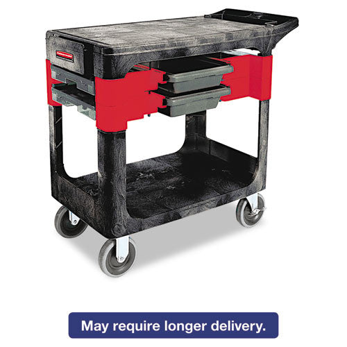 Rubbermaid Commercial Two-Shelf Trades Cart RCP618000BLA,  (UPC:086876141566)