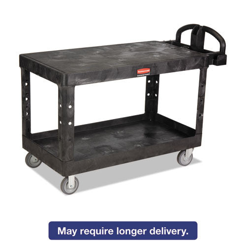 Rubbermaid Commercial Heavy-Duty Utility Cart RCP4545BLA,  (UPC:086876202915)