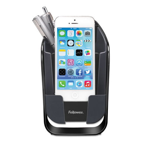 Fellowes I-Spire Series I-Spire Series Pencil and Phone Station front view ; UPC: 043859697465