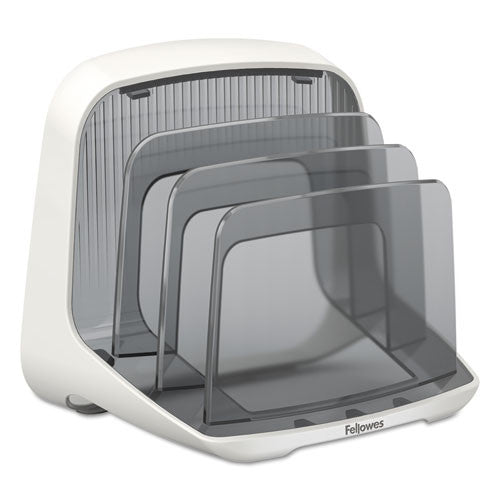 Fellowes I-Spire Series Desktop File Station in White/Gray ; UPC: 043859677399