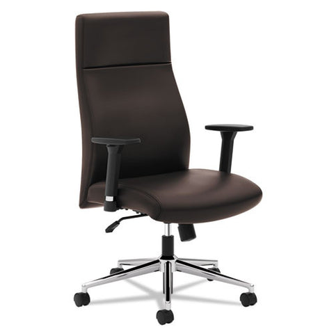 basyx by HON HVL108 High-Back Executive Chair in Brown ; UPC: 089191183310