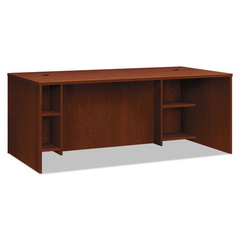 basyx by HON BL Series Breakfront Desk Shell in Medium Cherry ; UPC: 089191410652