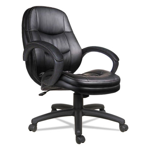 Alera Pf Series Mid-Back Leather Office Chair ; UPC: 42167393335