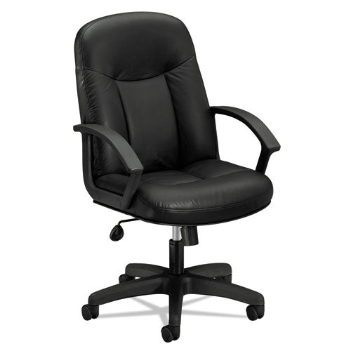 HON High-Back Executive Chair | Center-Tilt, Tension, Lock | Fixed Arms | Black  ; Image 1