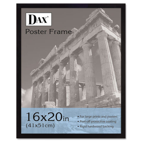 Dax Black Wood Poster Frame ; (076795093367); Color:Black
