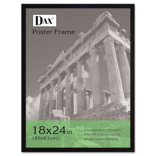 Dax Black Wood Poster Frame ; (076795093374); Color:Black