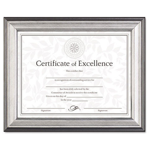 Burnes Document Frame ; (076795227823); Color:Silver,Charcoal,Nickel