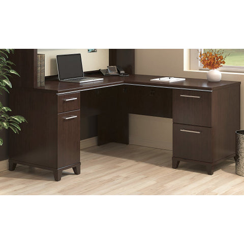 Bush Enterprise Collection 60W x 60D L-Desk, Mocha Cherry 2930MC03K ; UPC: 042976533472 ; Image 4