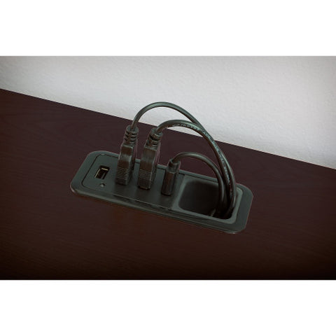 Bush Enterprise Collection 60W x 60D L-Desk, Mocha Cherry 2930MC03K ; UPC: 042976533472 ; Image 5