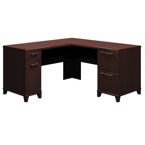Bush Enterprise Collection 60W x 60D L-Desk, Mocha Cherry 2930MC03K ; UPC: 042976533472 ; Image 1