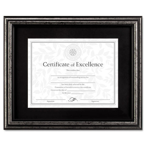 Dax Brushed Charcoal Document Frame ; (076795244356); Color:Charcoal,Black Mat