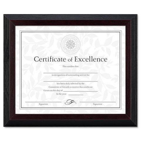 Dax 2-tone Stepped Edge Document Frame ; (088366048102); Color:Walnut