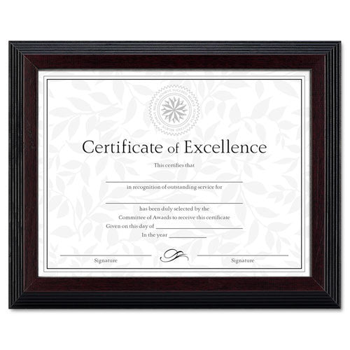 Dax Step Edge Document Frame ; (088366048119); Color:Walnut,Rosewood,Black Frame