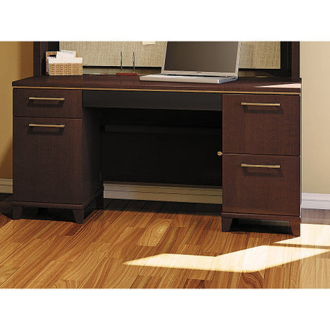 Bush Enterprise Collection 60W x 30D Double Pedestal Desk 2960MC03K ; UPC: 042976531348 ; Image 2