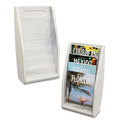 Deflecto Literature Holder DEF52009, Gray (UPC:079916520094)