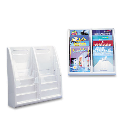 Deflecto Countertop/Wall Mount Literature Holder DEF52209, Gray (UPC:079916522098)