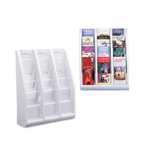 Deflecto Countertop/Wall Mount Literature Holder DEF52809, Gray (UPC:079916528090)