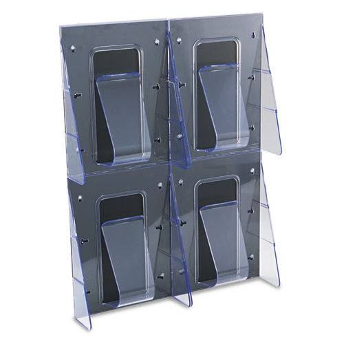 Deflecto 4-Pocket Clear Literature Rack DEF56001, Clear (UPC:079916560014)