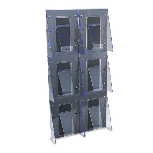 Deflecto Wall Literature Rack DEF56401, Clear (UPC:079916564012)