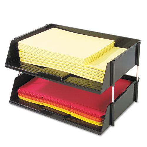 Deflecto Heavy-Duty Side Loading Letter Tray DEF582704, Black (UPC:079916820071)