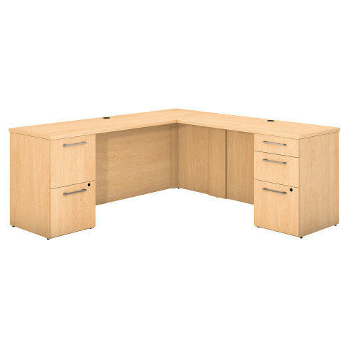 Bush 300 Series 72W X 22D Desk with 48W Return w Pedestals 300S036AC ; UPC: 042976526214 ; Image 1