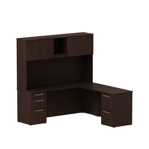 Bush 300 Series 72W X 22D Desk with 48W Return 300S061MR ; UPC: 042976518943 ; Image 1