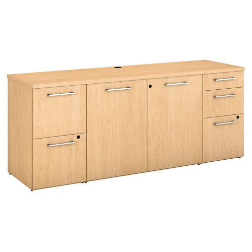 Bush 300 Series 72W x 22D Storage Credenza Kit, Natural Maple 300SCST72ACK ; UPC: 042976520304 ; Image 1