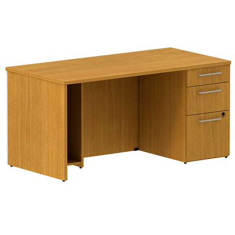60W x 30D Single Pedestal Desk Kit in Modern Cherry ; UPC: 042976528355 ; Image 1