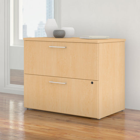 Bush 300 Series 36W 2-Drw Freestanding Lateral File Kit, Natural Maple 300SFL236ACK ; UPC: 042976520571 ; Image 2