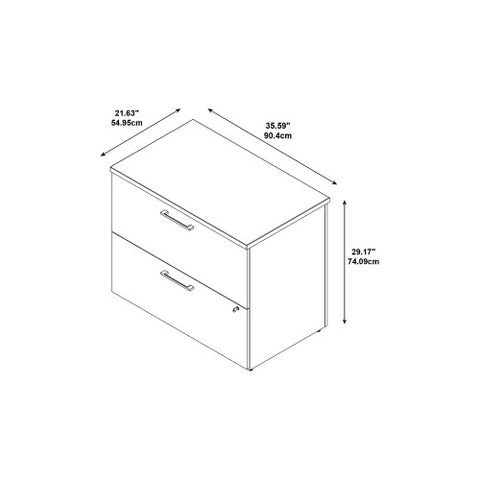 Bush 300 Series 36W 2-Drw Freestanding Lateral File Kit, Natural Maple 300SFL236ACK ; UPC: 042976520571 ; Image 4