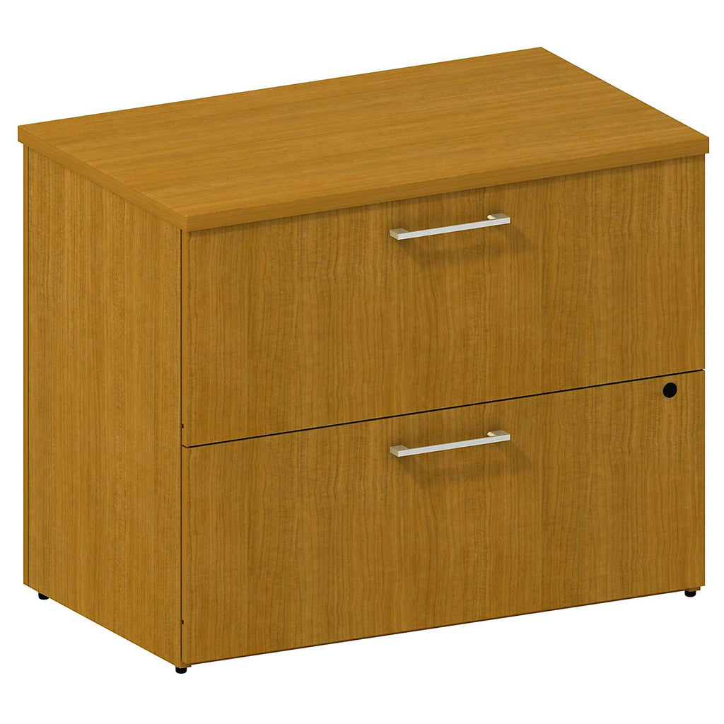 36W 2-Drawer Lateral File Kit in Modern Cherry ; UPC: 042976528515 ; Image 1