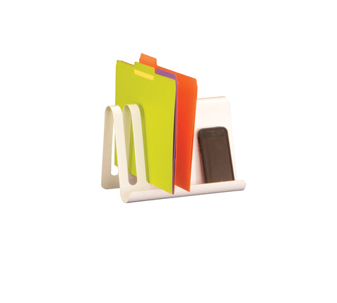 Safco Products Wave™ Desk Accessory, Combination Desk File & Document Holder 3222WH Image 1