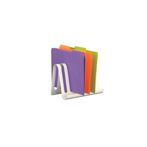 Safco Products Wave™ Desk Accessory, Combination Desk File & Document Holder 3222WH Image 3