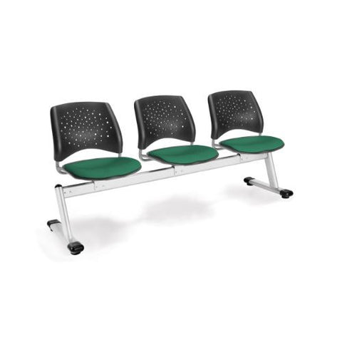 OFM Stars 3-Unit Beam Seating with 3 Seats; UPC:845123006658