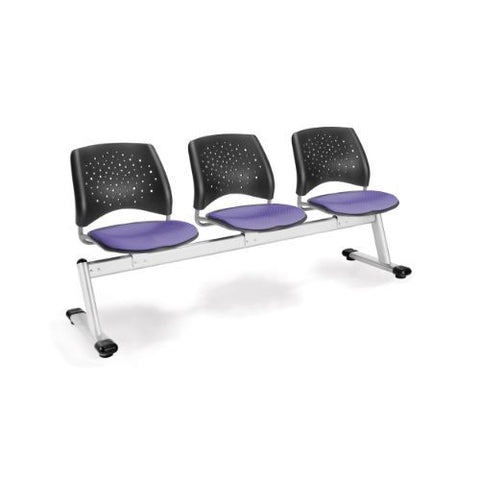 OFM Stars 3-Unit Beam Seating with 3 Seats; UPC:845123006689