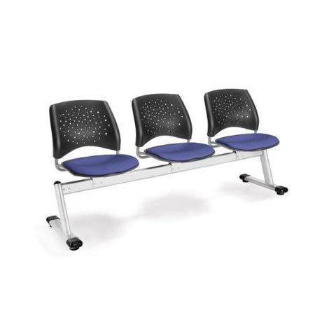 OFM Stars 3-Unit Beam Seating with 3 Seats; UPC:845123006702