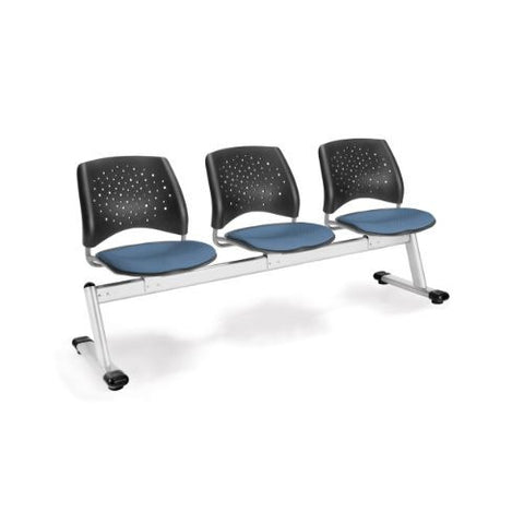 OFM Stars 3-Unit Beam Seating with 3 Seats; UPC:845123006733