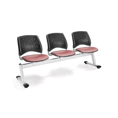 OFM Stars 3-Unit Beam Seating with 3 Seats; UPC:845123006757