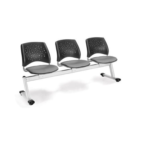 OFM Stars 3-Unit Beam Seating with 3 Seats; UPC:845123006818